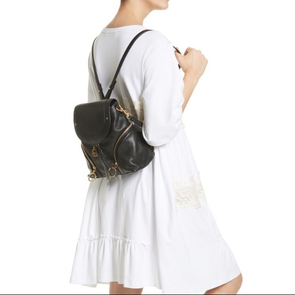 See by Chloé Large Leather Backpack Black NWT 25e38f30042f2